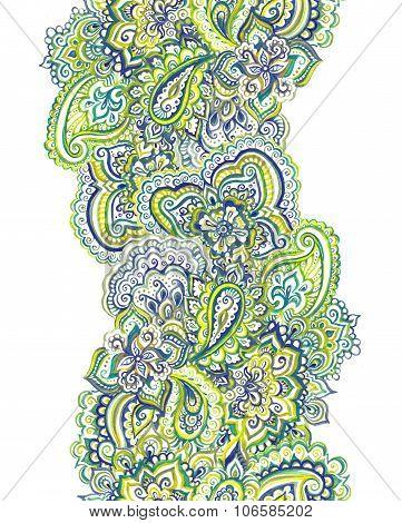 Blue-green decorative ornamental stripe