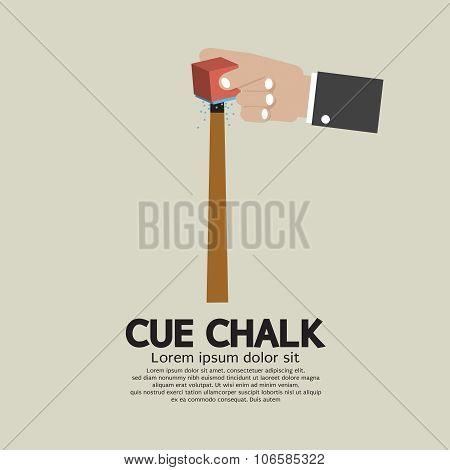Cue Chalk Or Billiard Sports.