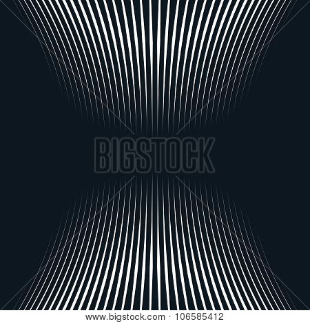 Op Art, Moire Pattern. Relaxing Hypnotic Background With Geometric Black Lines.