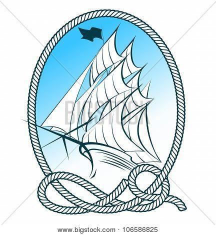 Sailing Ship Emblem