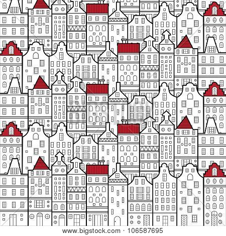 Amsterdam Houses Style Pattern