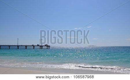 Modern Jetty in Jurien Bay, Western Australia