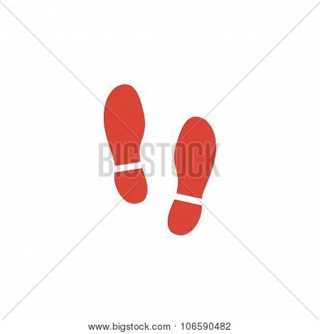 Imprint Soles Shoes Icon.shoes Print Icon.vector Illustration