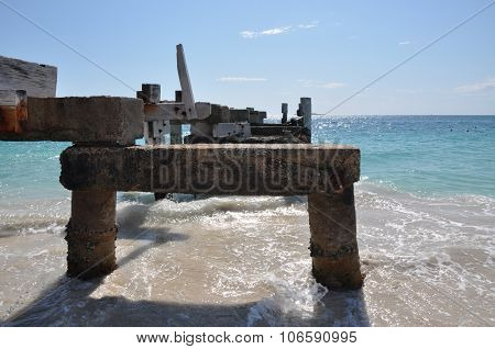 Abandoned Jetty Rests in Jurien Bay