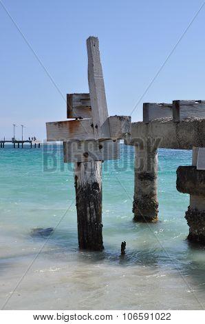 Abandoned Jetty Closeup: Jurien Bay, Western Australia
