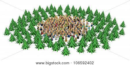 Cartoon Crowd, Forest Circle