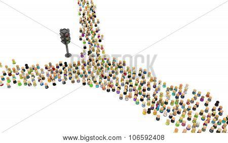 Cartoon Crowd, Traffic Light Split