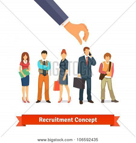 Recruitment and human resources concept