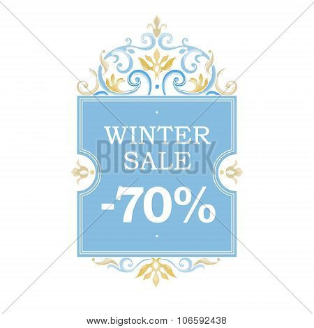 Winter Vector Sale -70% Discount Banner.