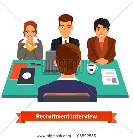 Man having a job Interview with HR specialists