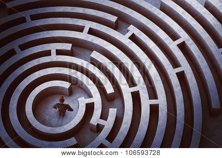 Center of a maze