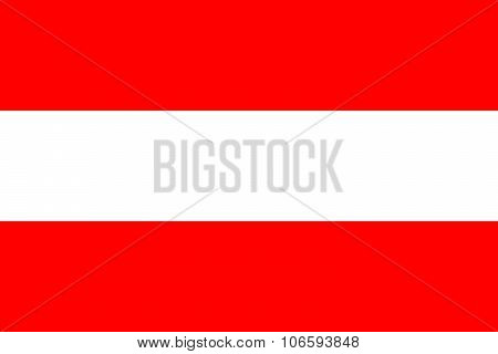 National Flag Of Austria (civil Version) In Official Colors And Proportions