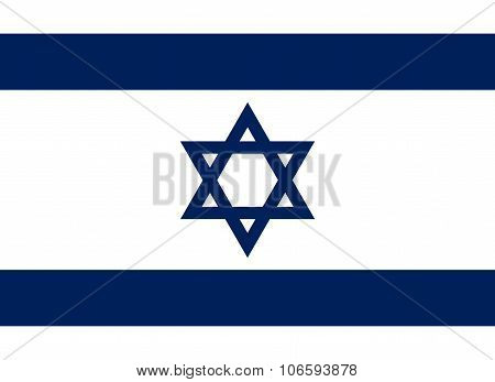 National Flag Of Israel - Degel Yisra'el (official Colors And Proportions)