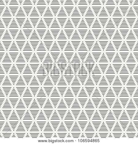 Geometric line monochrome abstract hipster seamless pattern with triangle. Wrapping paper. Scrapbook