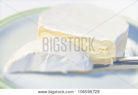 Camembert Cheese On Plate
