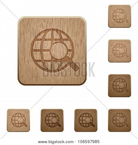 Web Search Wooden Buttons