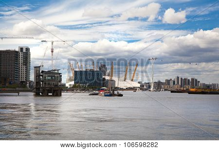 City of London view from the River Thames