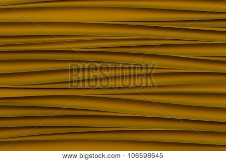 background of golden 3d abstract waves