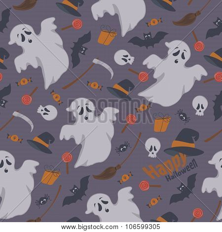 Vector illustration of a seamless background for Halloween holid