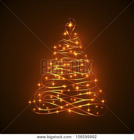 Abstract Shining Electric Light Christmas Tree