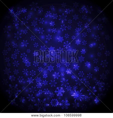 Abstract Snowflake Shine Background