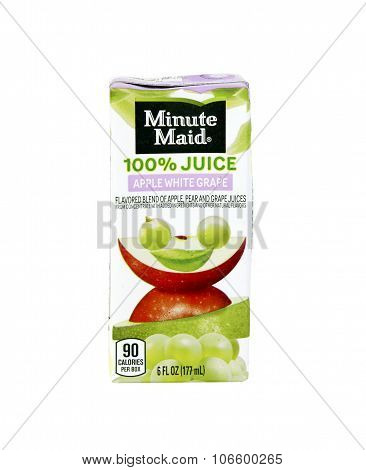 Box Of Minute Maid Apple White Grape Juice