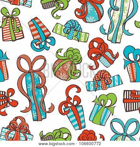 Seamless Gifts Pattern.