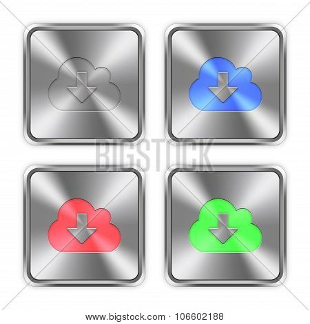 Color Cloud Download Steel Buttons