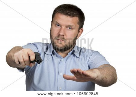 Bearded Man With A Gun