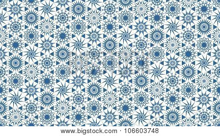 Geometric Seamless Parquet Pattern In Blue Tones