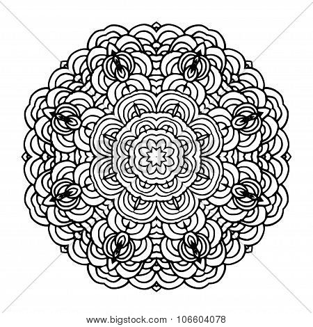 Hand Drawn Mandala Arabic Template For Design