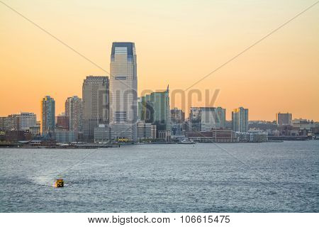 Goldman Sachs Tower At Sunset