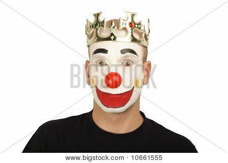 Clown surprised