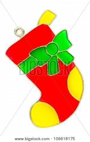 Christmas Stocking Ornament on white
