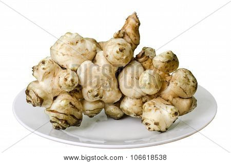 Jerusalem Artichoke On The Plate