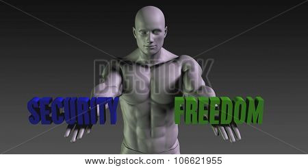 Security vs Freedom Concept of Choosing Between the Two Choices