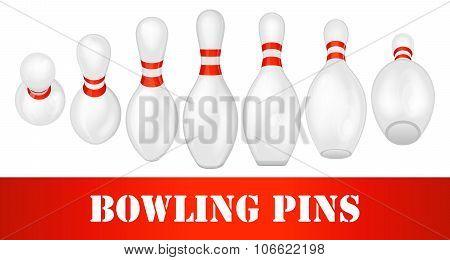 Bowling pins set