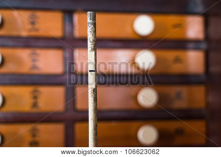 Fortune cabinet in temple Japan