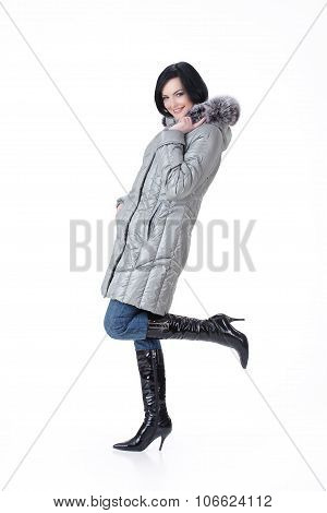 Young Woman In Winter clothing