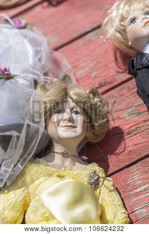 Old Puppet With On A Flea Market