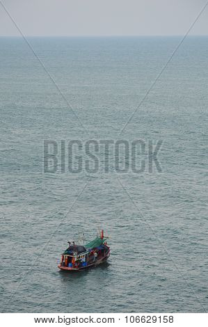 fishery boat under the sea