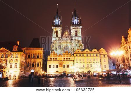 Church Of Our Lady Before Tyn In Old Town Square, Prague, Czech