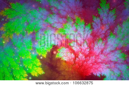Rainbow-colored Juniper Branches