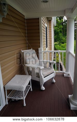 Furniture on a Front Porch
