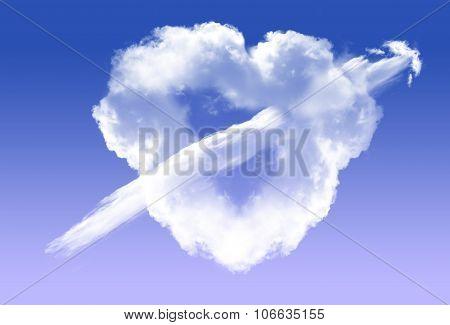 Heart Shape Cloud With Arrow