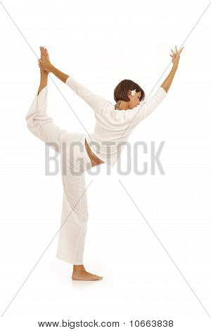 Young woman doing yoga