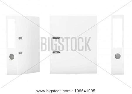 Blank White Office Binders