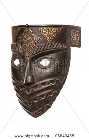 Metal mask isolated on white