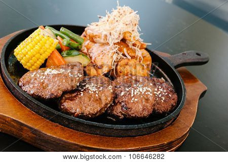 korean bbq sizzle meal