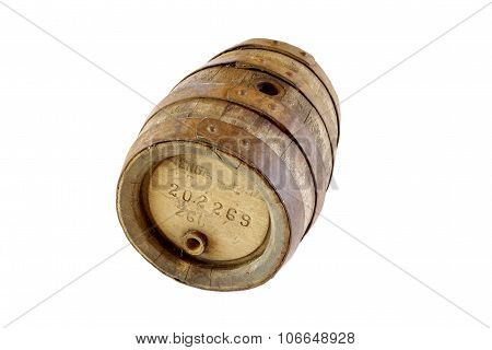 Very Old Vintage Oak Wooden Beer Barrel In Perfect Condition